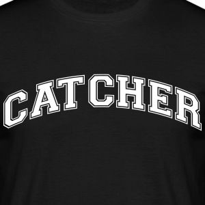 catcher college style curved logo - Männer T-Shirt