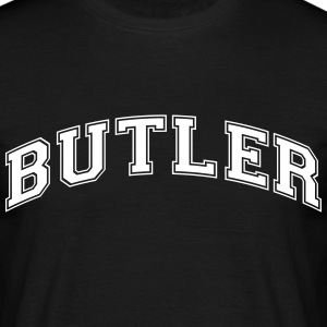 butler college style curved logo - Men's T-Shirt