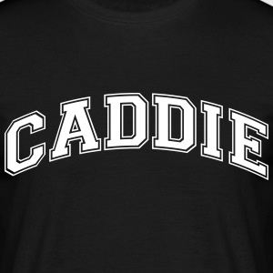 caddie college style curved logo - Men's T-Shirt