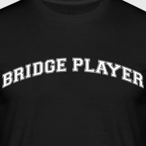 bridge player college style curved logo - Men's T-Shirt