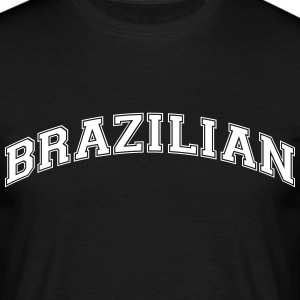 brazilian  college style curved logo - Men's T-Shirt