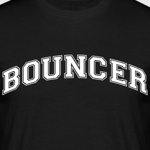 bouncer college style curved logo - Men's T-Shirt