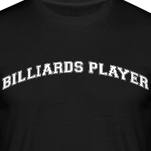 billiards player college style curved lo - Männer T-Shirt