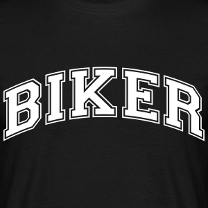 biker college style curved logo - Men's T-Shirt