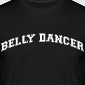 belly dancer college style curved logo - Men's T-Shirt