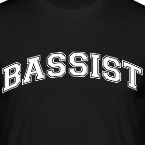 bassist college style curved logo - Men's T-Shirt
