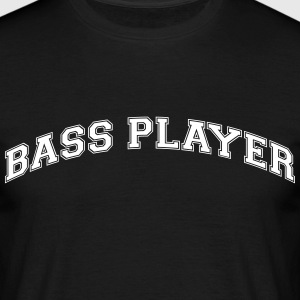 bass player college style curved logo - Men's T-Shirt