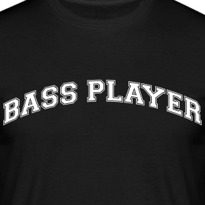 bass player college style curved logo - Männer T-Shirt
