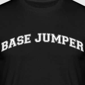 base jumper college style curved logo - Men's T-Shirt