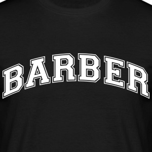 barber college style curved logo - Men's T-Shirt