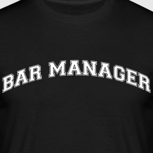 bar manager college style curved logo - Men's T-Shirt