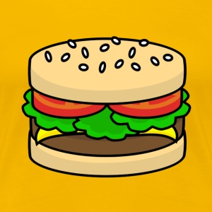 Food Series: Hamburger T-Shirts - Frauen Premium T-Shirt