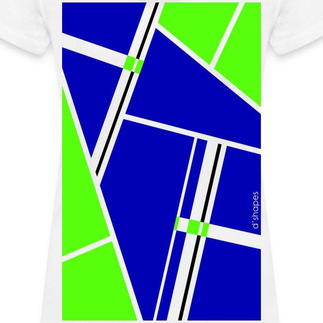 Blocks Blue/Green - Woman V T-shirt