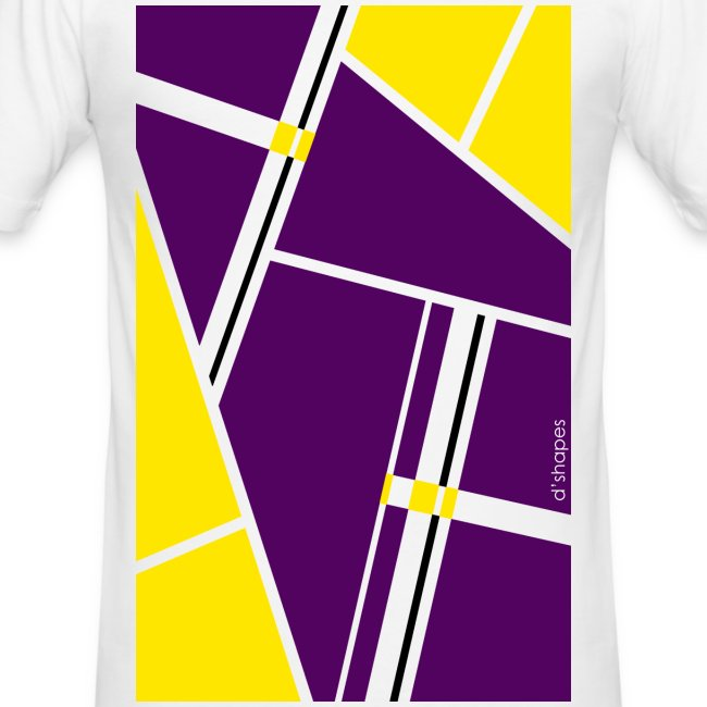 Blocks Yellow/Purple - Man Slim T-shirt