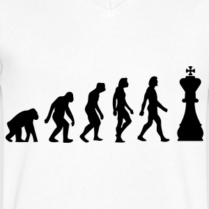 Evolution of Chess Koszulki - Koszulka męska Canvas z dekoltem w serek