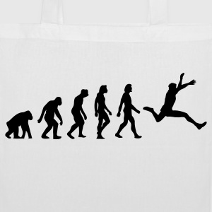 The evolution of long jump Bags & Backpacks - Tote Bag