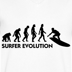 The Evolution of Surfing T-skjorter - T-skjorte med V-utsnitt for menn