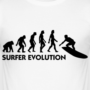 The Evolution of Surfing T-Shirts - Men's Slim Fit T-Shirt