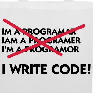 I write code! Bags & Backpacks - Tote Bag