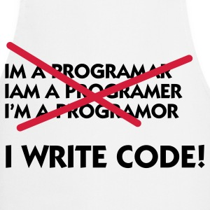 I write code!  Aprons - Cooking Apron