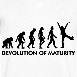 The Evolution of maturity T-Shirts - Men's V-Neck T-Shirt