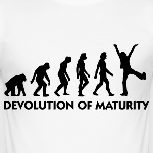 The Evolution of maturity T-Shirts - Men's Slim Fit T-Shirt