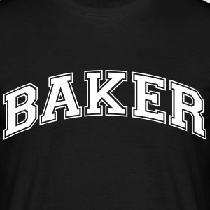 baker college style curved logo - Men's T-Shirt