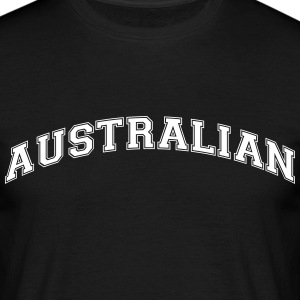 australian  college style curved logo - Men's T-Shirt