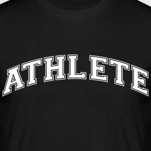 athlete college style curved logo - Men's T-Shirt