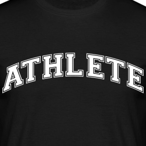 athlete college style curved logo - Männer T-Shirt