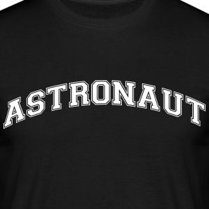 astronaut college style curved logo - Männer T-Shirt