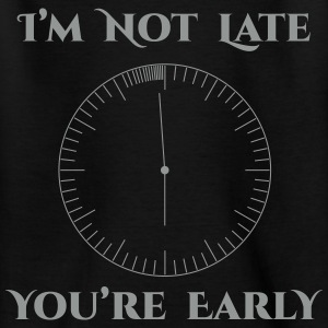 I'm not late - T-shirt Enfant