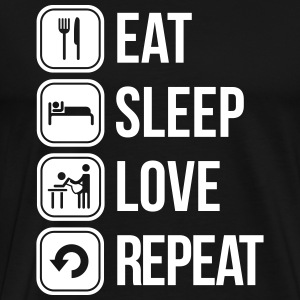 eat sleep love repeat T-shirts - Premium-T-shirt herr