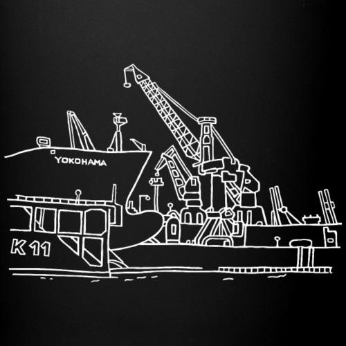 Hamburger Hafen (Dock 11) weiss