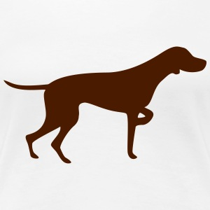 Pointing Vizsla - Frauen Premium T-Shirt