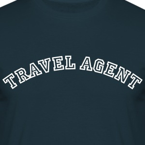 travel agent curved college style logo - Men's T-Shirt