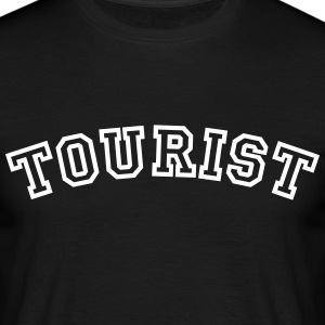 tourist curved college style logo - Men's T-Shirt