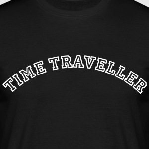 time traveller curved college style logo - Men's T-Shirt