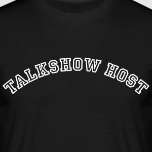 talkshow host curved college style logo - Men's T-Shirt
