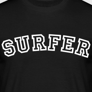 surfer curved college style logo - Männer T-Shirt
