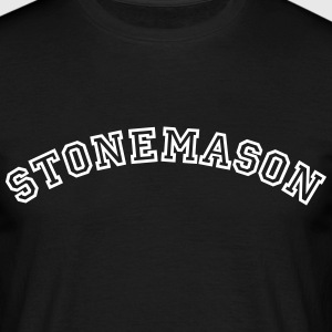 stonemason curved college style logo - Men's T-Shirt