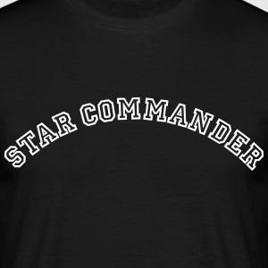 star commander curved college style logo - Men's T-Shirt