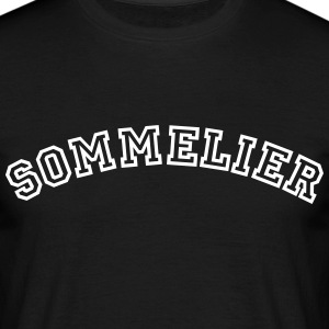 sommelier curved college style logo - Men's T-Shirt