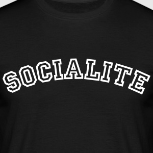 socialite curved college style logo - Men's T-Shirt