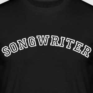 songwriter curved college style logo - Männer T-Shirt