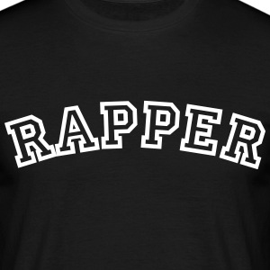 rapper curved college style logo - Men's T-Shirt