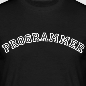 programmer curved college style logo - Men's T-Shirt