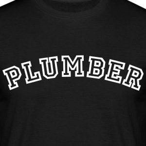 plumber curved college style logo - Men's T-Shirt