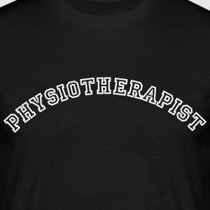 physiotherapist curved college style log - Men's T-Shirt