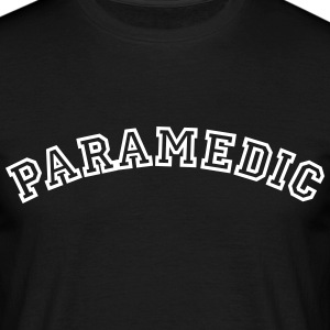 paramedic curved college style logo - Men's T-Shirt